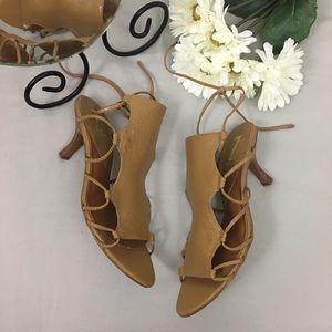 Sergio Zelcer Handmade Leather Strappy Heels